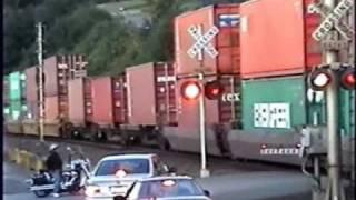 BNSF - Sounder -Amtrak at Mukilteo, WA-USA Train action