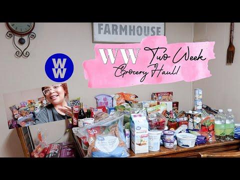 WAL-MART WW ( Weight Watchers) Two-Week Grocery Haul! WW Green Plan!