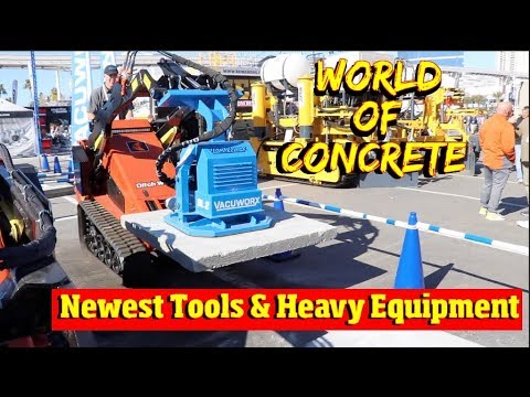 Newest heavy equipment & Power tools at the World of Concrete 2019 sponsored by Makita