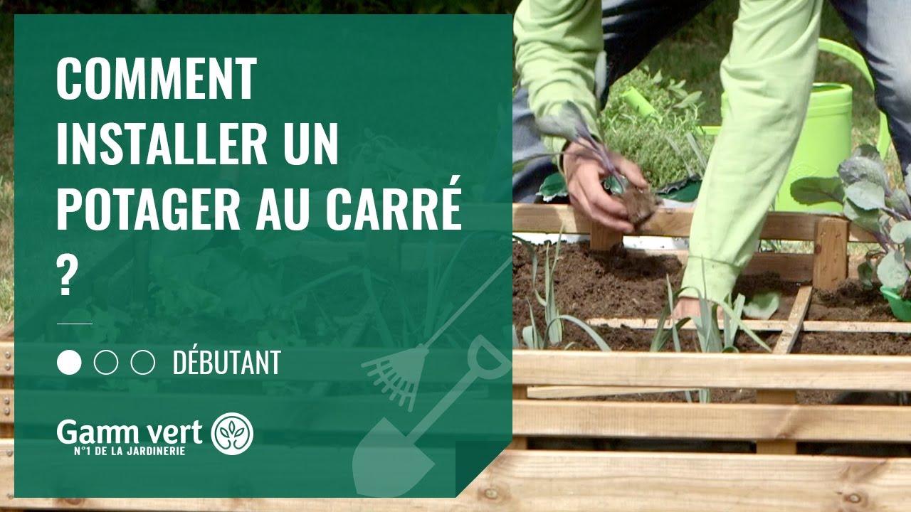 tuto comment installer un potager au carre jardinerie gamm vert