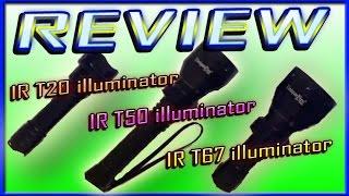 REVIEW UniqueFire 3 IR led torches IR T20 , T50 illuminator Plus Mini T67 infrared torch
