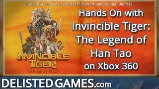 Invincible Tiger: The Legend of Han Tao - Xbox 360 (Delisted Games Hands On)