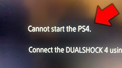 Cannot start the PS4 (How to FIX in under 2 minutes!)