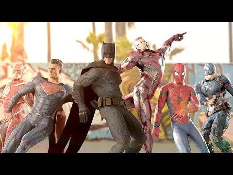 MARVEL vs. DC  EPIC DANCE BATTLES!  THE AVENGERS vs. JUSTICE LEAGUE