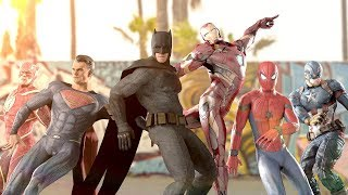 marvel vs dc epic dance battles the avengers vs justice league