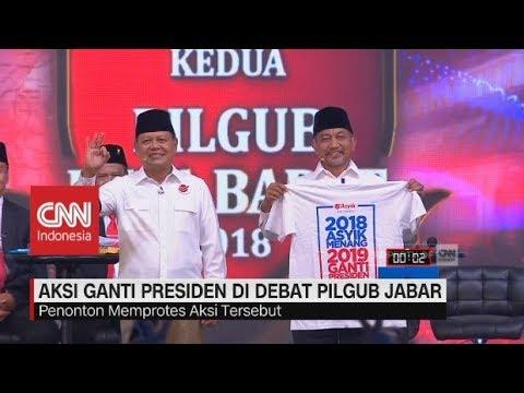 Kaus #2019GantiPresiden Di Debat Pilgub Jabar, Ini Tanggapan Pasangan Cagub-Cawagub
