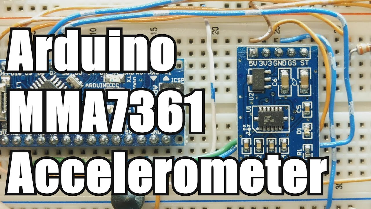 Build an Arduino to MMA7361 accelerometer interface