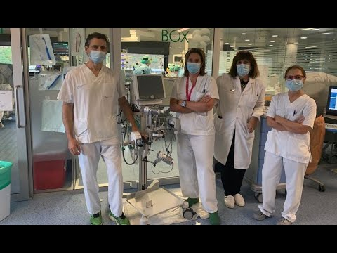 El doctor Nacho Chico, la suoervisora Amparo Domínguez, la jefa de UCI Dolores Vila y la doctora Pepa Rodríguez