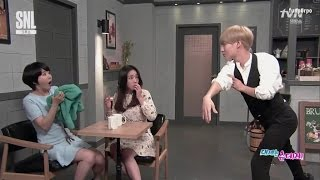 eng 160227 taemin snl korea tsundere cafe part 2
