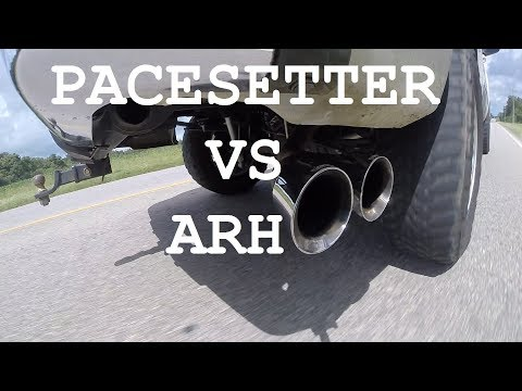 Pacesetter vs American Racing Headers Chevy Silverdo Corsa exhaust