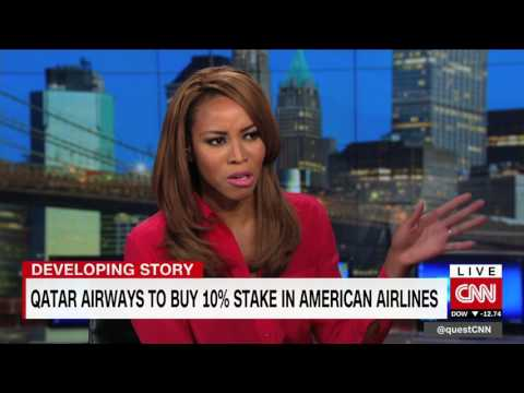 Qatar Airways wants 10% stake in American. Zain Asher interview