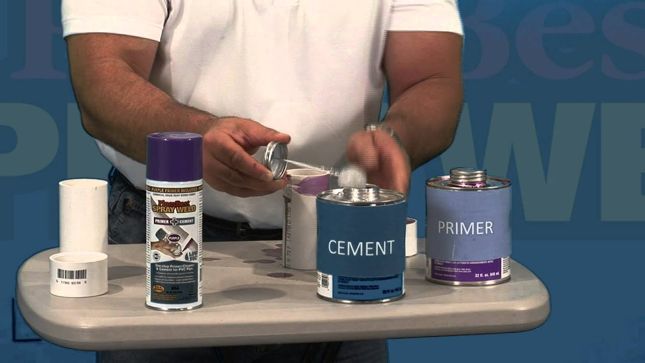 Sealing PVC Pipe : Cleaner Primer and Sealant ALL IN ONE ...