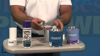 Sealing PVC Pipe : Cleaner Primer and Sealant ALL IN ONE
