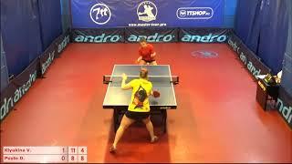 Настольный теннис матч 20112018 1 Клюкина Виктория Пуйто Дарья