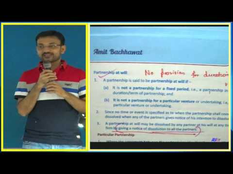 Amit Bachhawat - Indian Partnership Act Revision class for CPT, CS & CMA Foundation