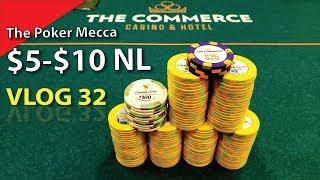 $5/$10 NL @ The Mecca – Poker Vlog 32