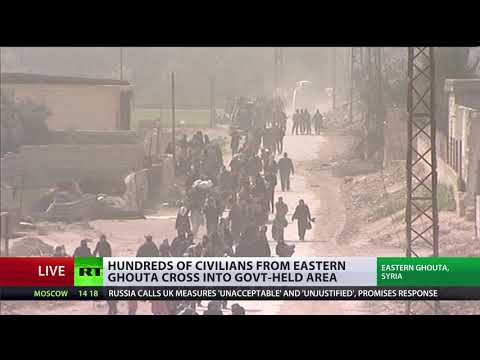 Hundreds of civilians evacuated from E. Ghouta during ceasefire – Russian military