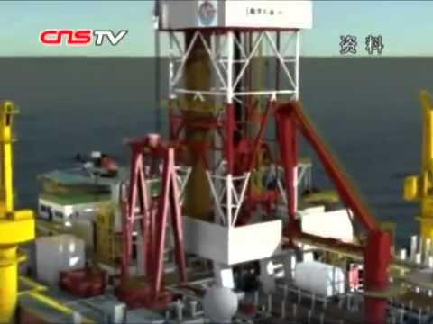 China's first deep water drilling platform South China Sea