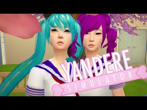 The Sims 4: Yandere Simulator - Saki Miyu & Kokona Haruka + CC List