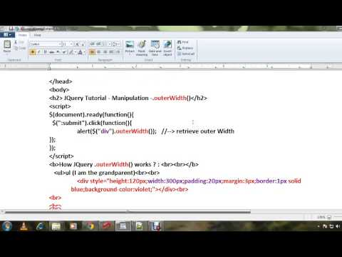 JQUERY OUTERWIDTH METHOD DEMO - YouTube