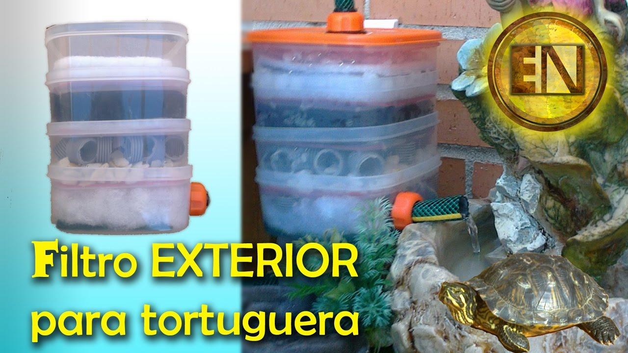 Filtro para tortugas casero youtube for Filtro para estanque de tortugas