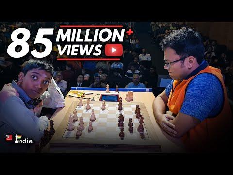 Praggnanandhaa vs Ganguly   Tata Steel Chess India Blitz 2018