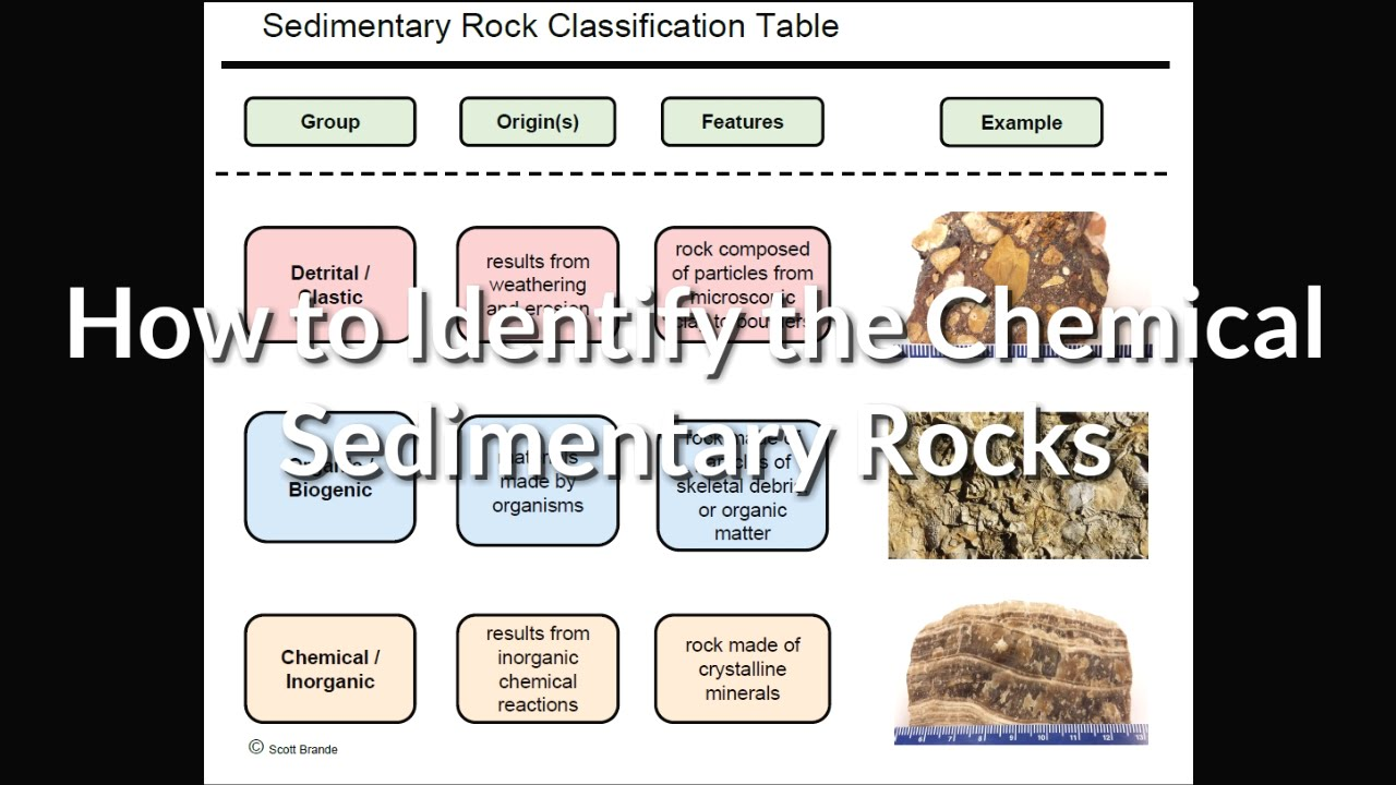 Sr4a How To Observe Identify And Name Common Chemical Sedimentary