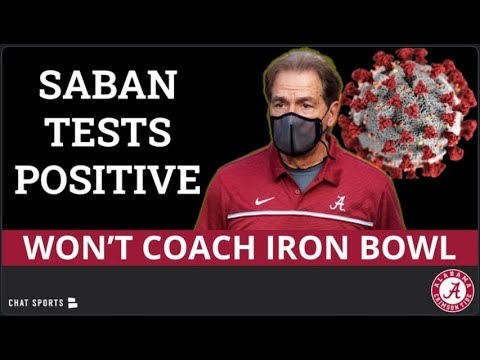 Alabama's Nick Saban tests positive for virus, will miss Iron Bowl
