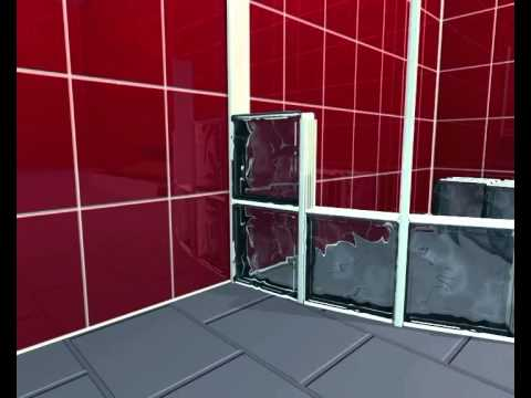 Pareti Di Vetromattone : Blocklock per pareti curve youtube