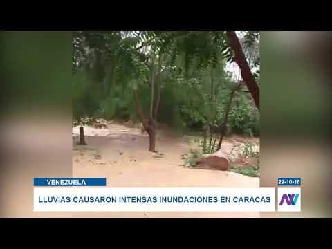 Lluvias generaron fuertes inundaciones en Caracas y Miranda