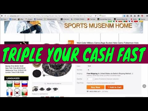 How to make money on eBay using alibaba triple your cash easily