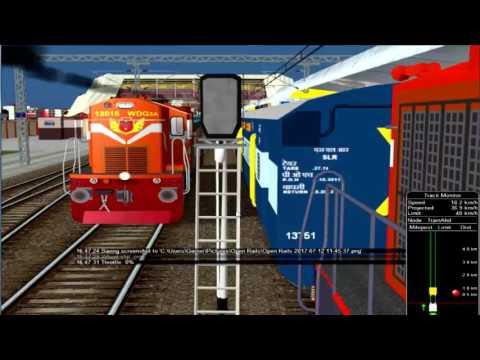 19712/Bhopal - Jaipur Express ||  भोपाल - जयपुर एक्सप्रेस || Change Loco || IR In MSTS In Open Rail