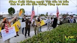"""Cô Mai Việt Kiều Mỹ:""""Cờ vàng như cái giẻ rách có được treo trong Nhà Trắng như Cờ đỏ kh"""