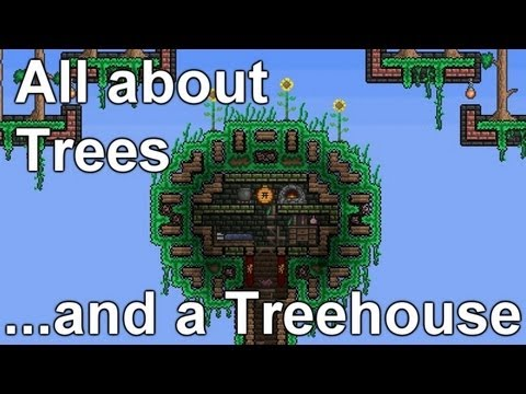 Terraria - Saplings, Trees, Treefarm and Treehouse... wts wood