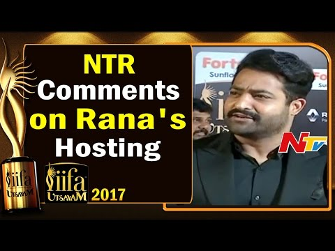 NTR Comments on Rana's Hosting @ IIFA Utsavam || #IIFAUtsavam2017 || NTV