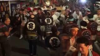 平成28年 津久井 中野神社 例大祭(夏祭り) 本社神輿宮入道中です。