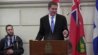Andrew Scheer addressed his first caucus meeting as Conservative party leader and delivered a message of unity. Scheer also outlined the party?s policy plans leading up to the 2019 federal election.