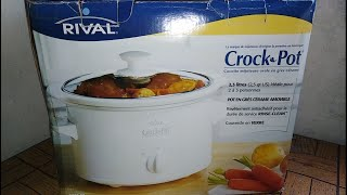 Rival Crock Pot Oval Stoneware Slow Cooker