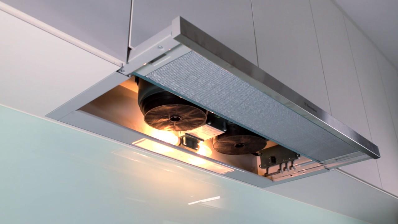 Kök köksfläkt installation : Electrolux Hood EFP9520X / EFP6520X - YouTube