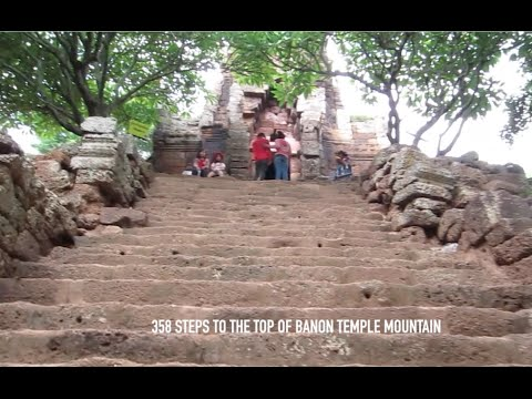 Banon Temple at Battambang Province in Cambodia | 358 Steps to Hilltop