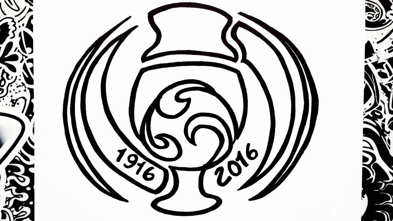 Como dibujar el logo de la copa america centenario | how ...