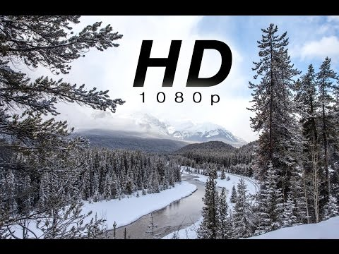 "[HD] ""Peaceful Mountain Snow"" 1 HR  of Snowy Nature Scenes from Banff, Canadian Rockies"