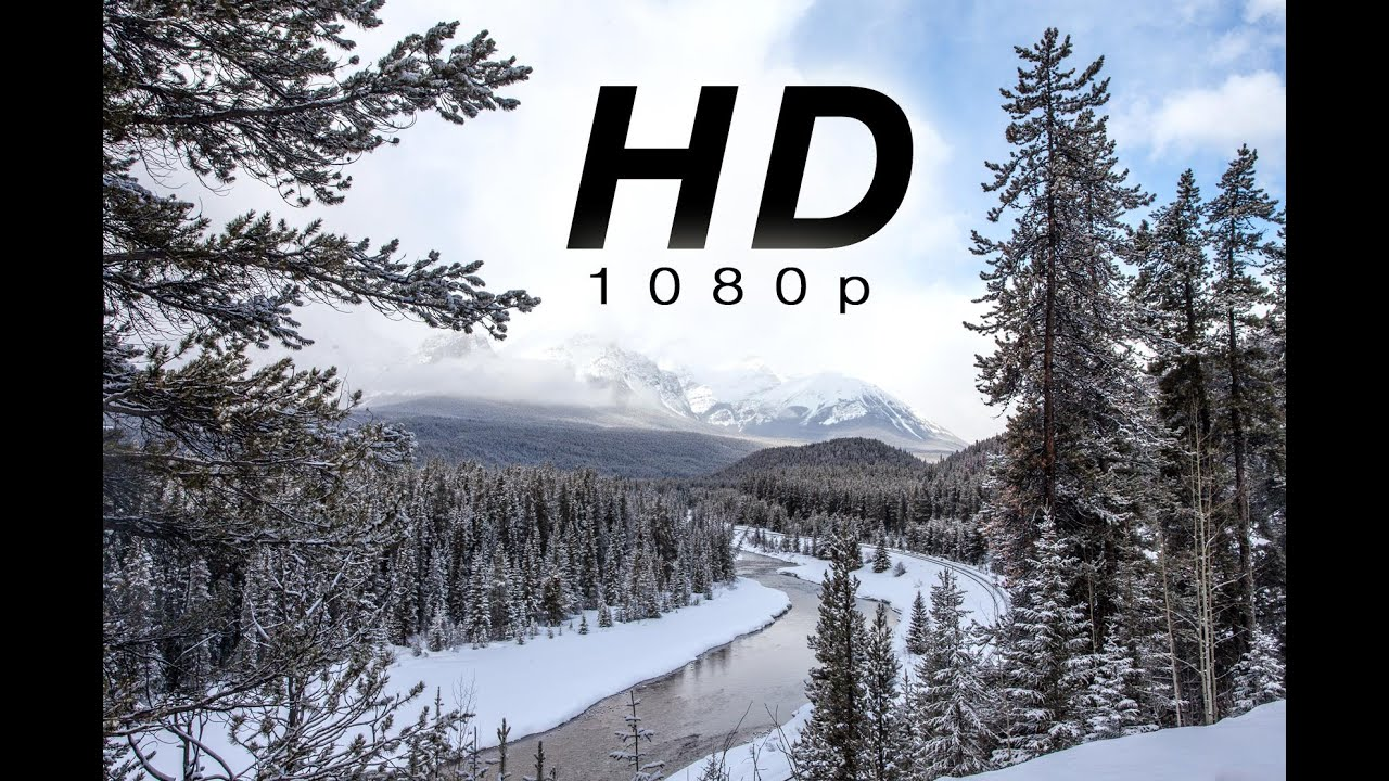 "hd] ""peaceful mountain snow"" 1 hr of snowy nature scenes from banff"