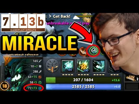MIRACLE OD 64 INT STOLEN AT 20 MINUTES = GG Dota 2