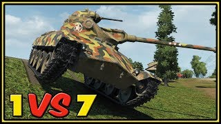 T71 - 13 Kills - 1 VS 7 - World of Tanks Gameplay