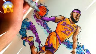 THE KING | LeBron James Doodle by Shrimpy ツ
