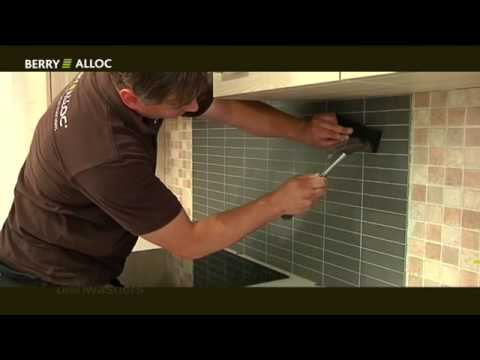 kitchen wall signé berry alloc : la solution de renovation ultra ... - Renover Carrelage Mural Cuisine