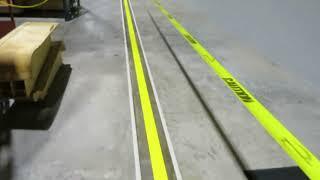 Warehouse epoxy floor striping in Titusville Florida