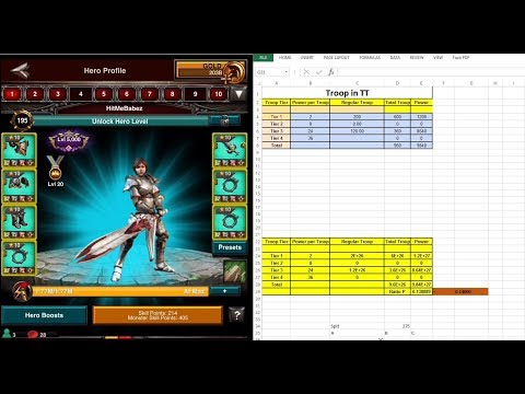 Game Of War: New Banner - Nerf Calculate T1/T3 - Trap Overview