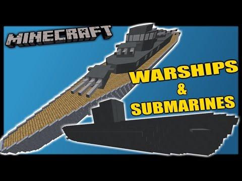 [1.11 Minecraft] WARSHIPS & SUBMARINES - One Command